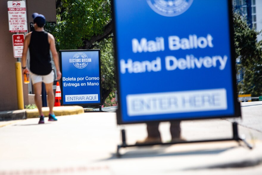 Travis County set up four drop-off sites for mail-in ballots across the county.