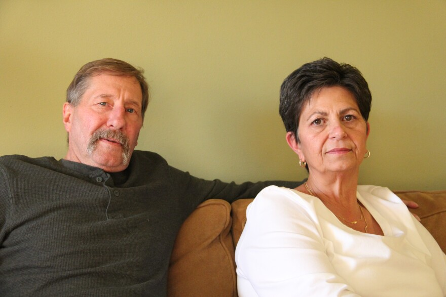 Married couple Michael and Robbin Dailey sit in their home in Spanish Village. They allege that the radioactive contamination found on their property came from the West Lake Landfill.