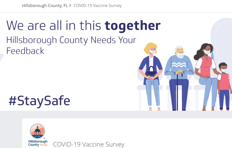 Questions range from whether residents feel safe taking the vaccine to how far they would travel to receive one.