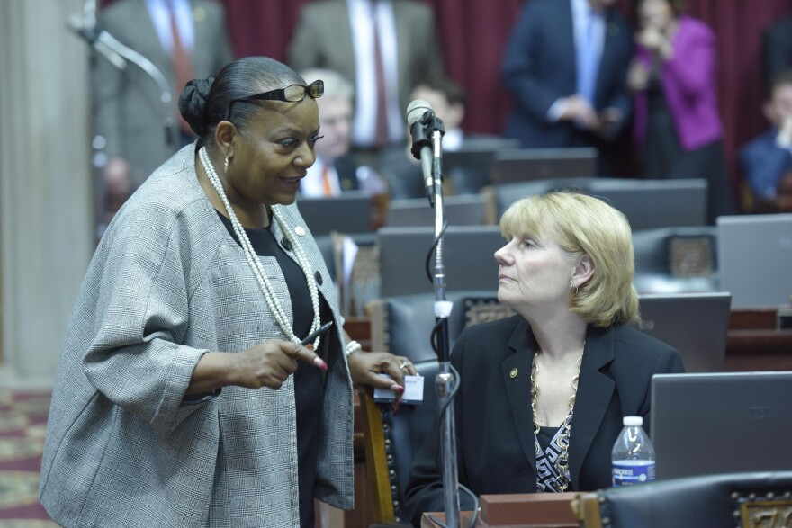State Rep. Penny Hubbard, left, is seeking her fourth term in the Missouri House.