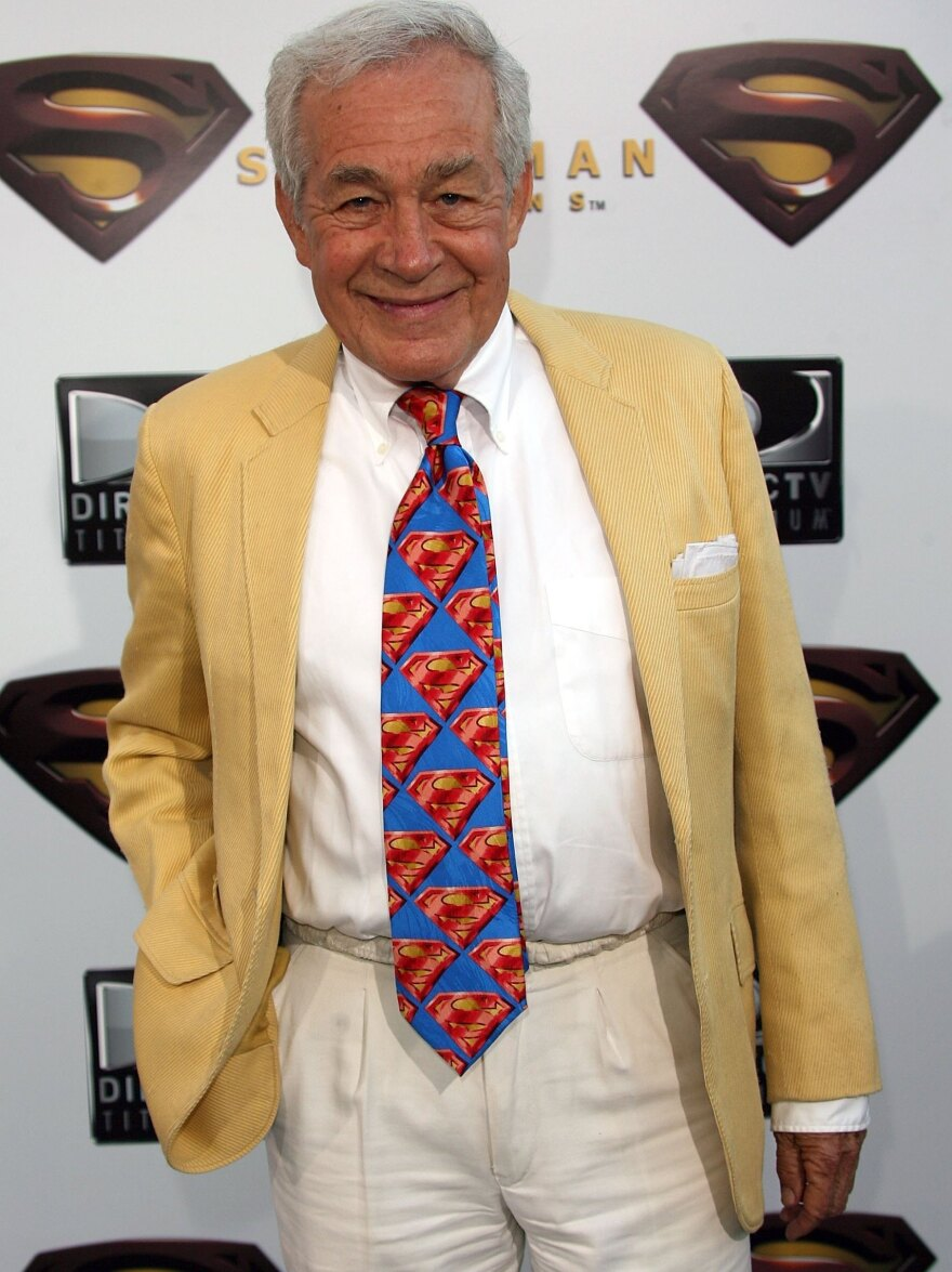Actor Jack Larson, who played a cub reporter at <em>The Daily Planet</em>, has died at 87. He's seen here at the premiere of <em>Superman Returns</em> in 2006.
