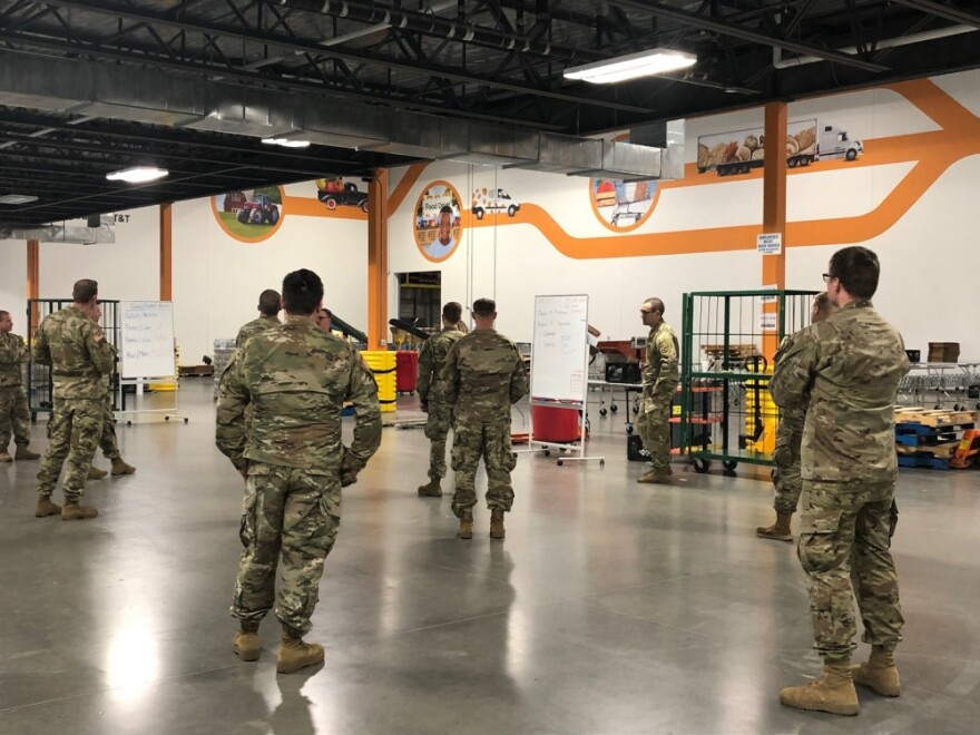 Starting April 5, service members from the Texas National Guard will be assigned to the North Texas Food Bank in Plano to assist with meeting overwhelming demand due to the COVID-19 pandemic.