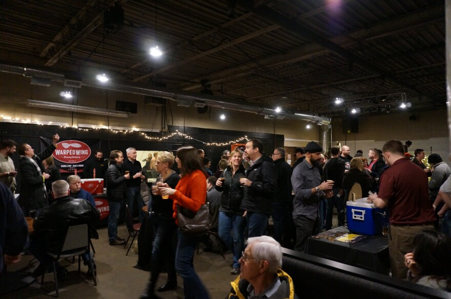 The crowd at BEER! in Dayton one of many collaborations between local craft brewers.