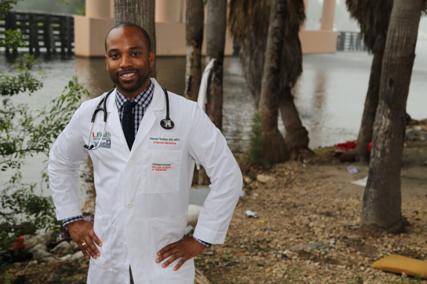 Miami doctor Hansel Tookes, who led the charge for Florida's new needle-exchange program for IV drug users.