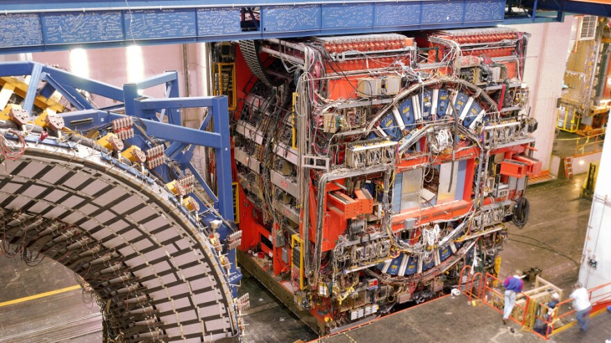 One of the detectors used in the discovery of top quarks at the Fermilab Tevatron.