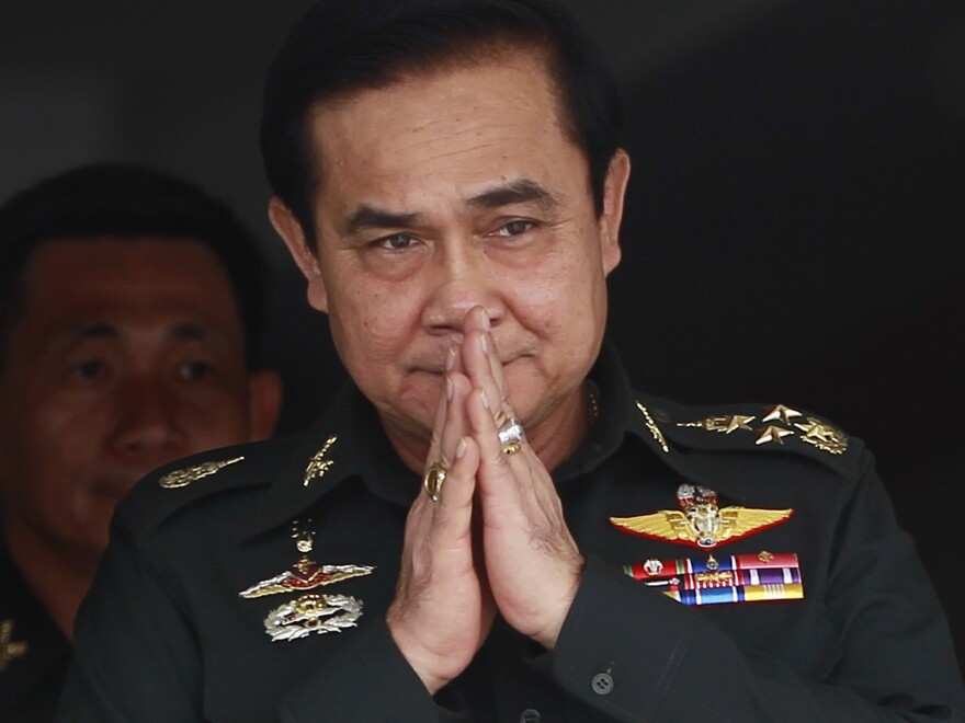 The leader of Thailand's military coup in May, Prayuth Chan-ocha, became prime minister in August.