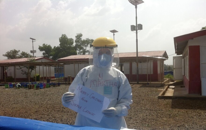 In 2014, Martha Phillips, an American nurse, traveled to West Africa during the Ebola crisis to provide medical care. Treating Ebola not only taught her how to stay safe around a deadly virus but also how to manage the stress and sadness of working during a disease outbreak. She's now drawing on that experience to help other nurses cope with the challenges of coronavirus.