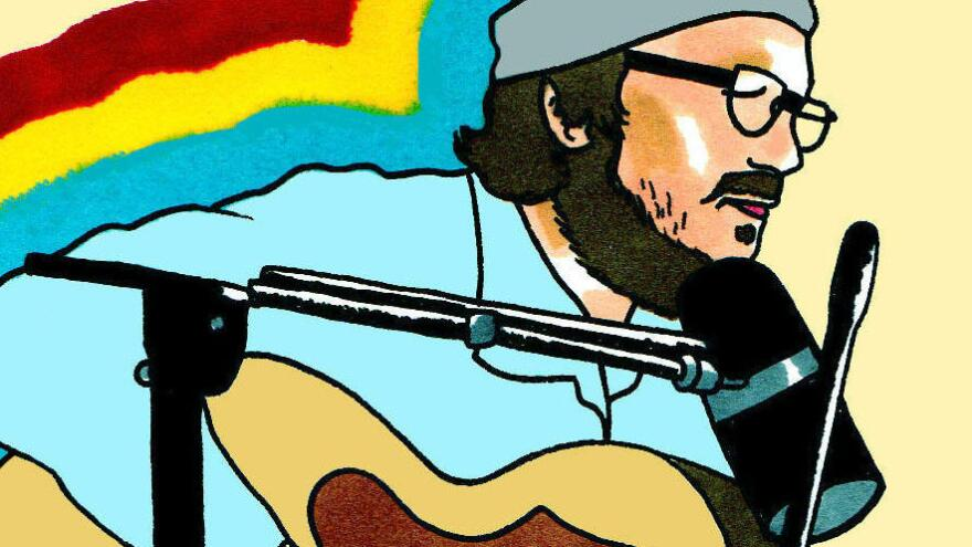 Each session from Daytrotter comes with an illustration. Wilco recorded one in 2011.