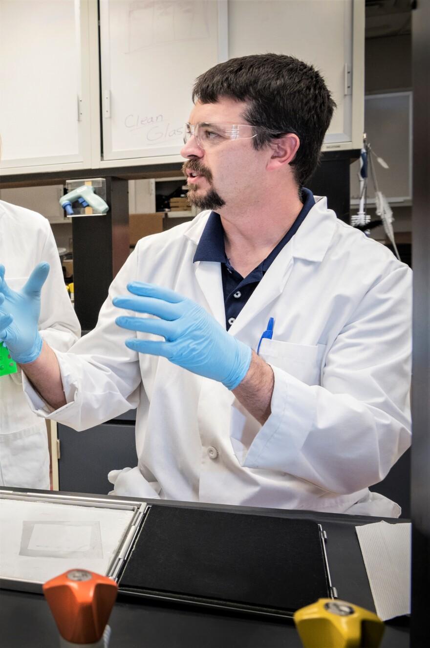 WVU researcher Travis Knuckles