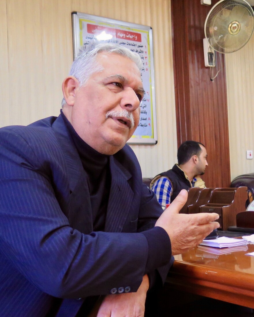 Dr. Hassan Zgyr, director of the west Mosul general hospital. Zgyr was director of surgery at the hospital while ISIS occupied the city and during the battle. He says many of the civilian casualties he saw were women and children killed in airstrikes.