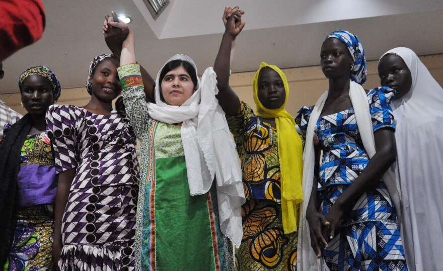 This week, Pakistani activist Malala Yousafzai met with some of the girls who escaped Boko Haram's captivity. The Islamic extremist group gained attention in April when it kidnapped more than 200 girls from a school in northeastern Nigeria. Many girls are still missing.