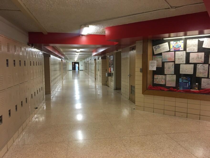 photo of a school hallway