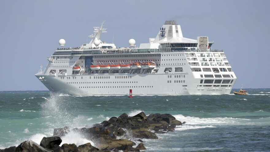 After bad weather forced it to reroute, the Royal Caribbean cruise ship Empress of the Seas rescued two stranded fishermen last week between Grand Cayman and Jamaica.