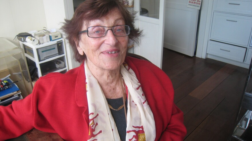 Suzanne Hoogendijk, shown here in 2009, hid for two years with her mother in Amsterdam to escape the Nazis.