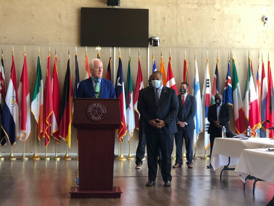 Senator John Cornyn listened for more than an hour to law enforcement, faith, community and civil rights leaders discuss police reform.