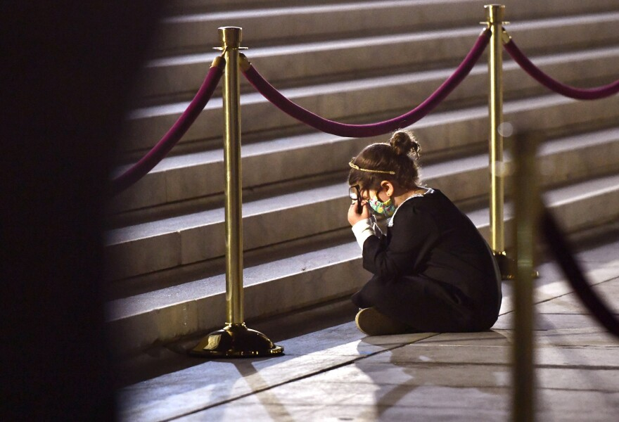Justice Ruth Bader Ginsburg lies in repose at the U.S. Supreme Court.