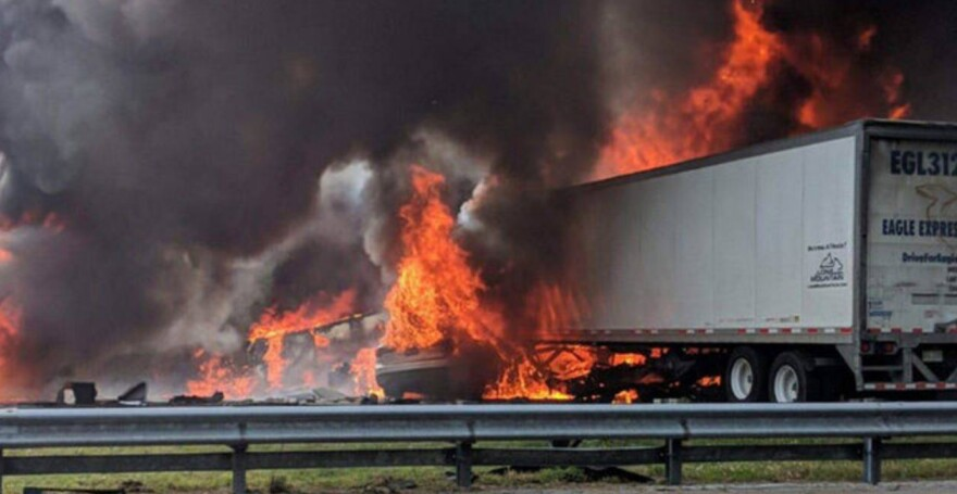 The NTSB has put out a preliminary report on a fiery Jan. 2019 crash on Interstate-75 that killed five children and two truck drivers.