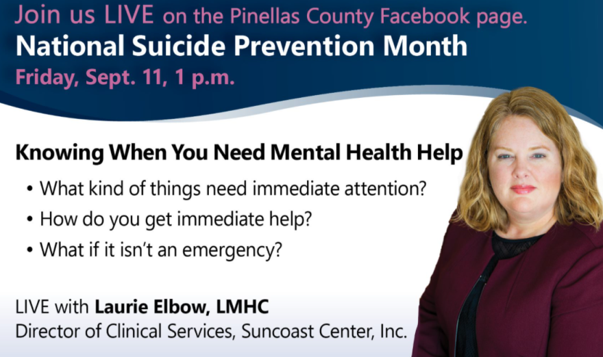 Laurie Elbow is the director of clinical services at Suncoast Center in Pinellas County