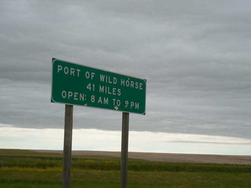 The sign for port of Wild Horse, taken June 24, 2014.