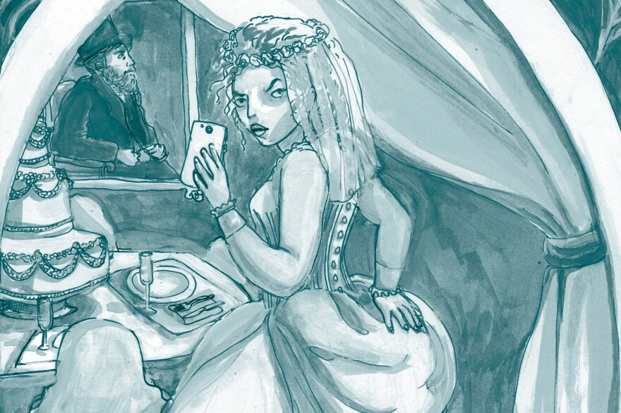 In Mallory Ortberg's modern retelling of Charles Dickens' <em>Great Expectations</em>, Miss Havisham texts wedding dress photos from a blocked number.
