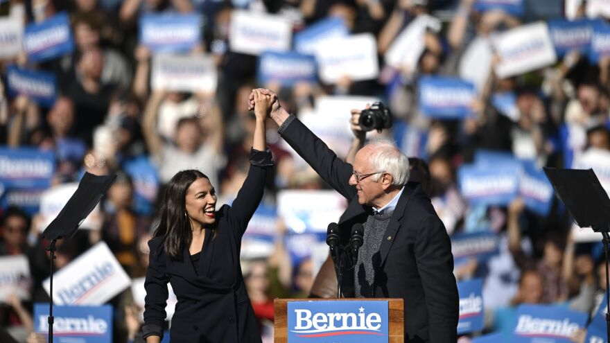 Following his heart attack, Sanders returned to the presidential campaign trail on Oct. 19, 2019, with a huge rally in New York City, where he was endorsed by progressive star Alexandria Ocasio-Cortez.