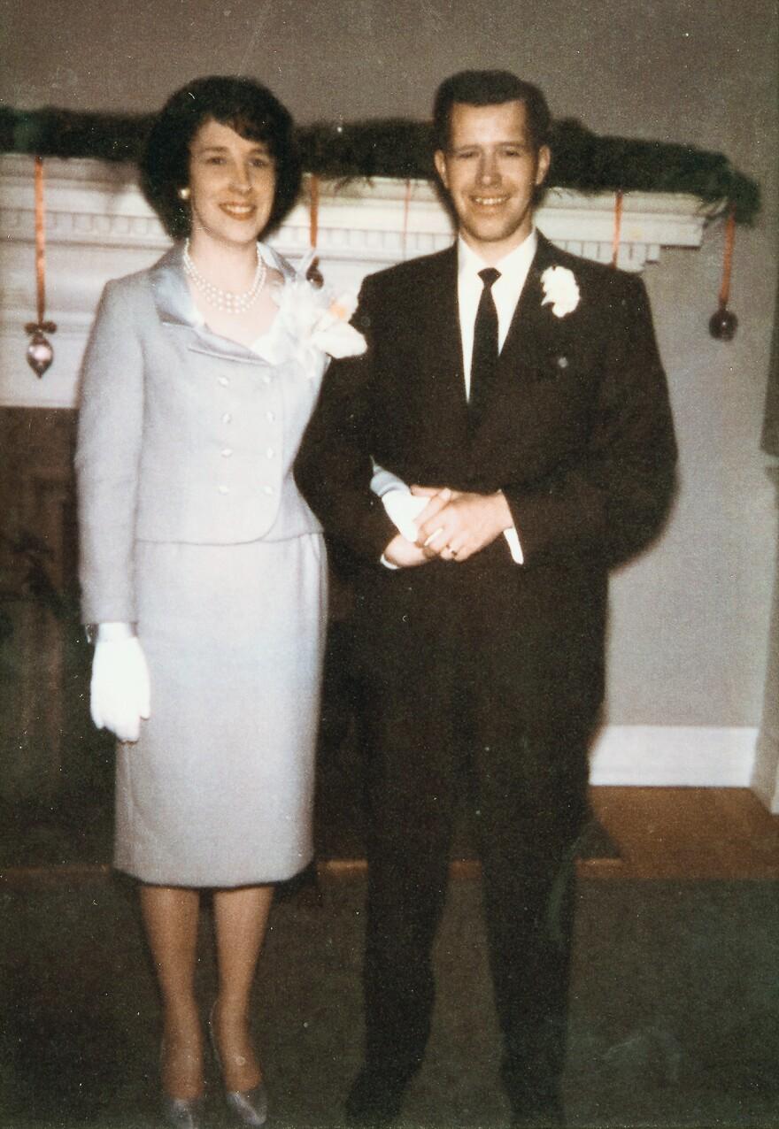 Carol and John Matlock on their wedding day, Dec. 26, 1964.