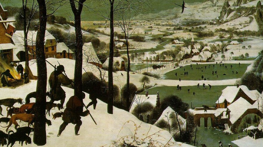 """The Little Ice Age brought colder, snowier winters to Europe, starting in about 1550. Many paintings at the time documented the climate change, including Pieter Bruegel's """"Hunters in the Snow<em>,</em>""""<em> </em>painted in 1565."""