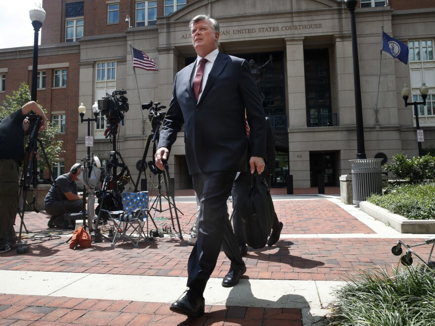 Kevin Downing, an attorney with the defense team for Paul Manafort, moved for a mistrial in his case over jury disputes — but the judge did not agree.