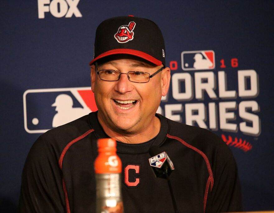 A photo of Cleveland Indians manager Terry Francona