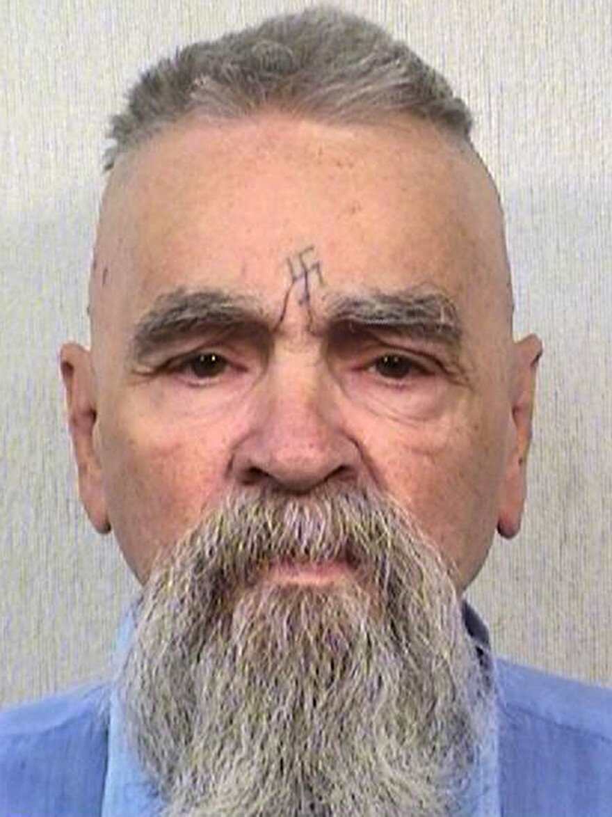 "A marriage license has been issued for 80-year-old serial killer Charles Manson, seen here on Oct. 8, to wed 26-year-old Afton Elaine Burton. Burton, who goes by the name ""Star,"" told the AP that she and Manson will be married next month."