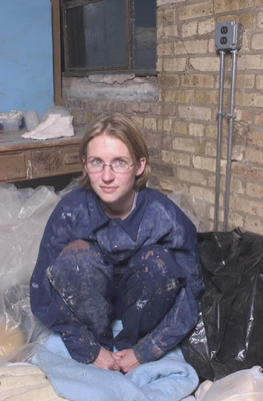 Jessica Witte in a former studio.