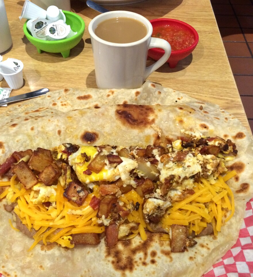 A breakfast taco in Texas.