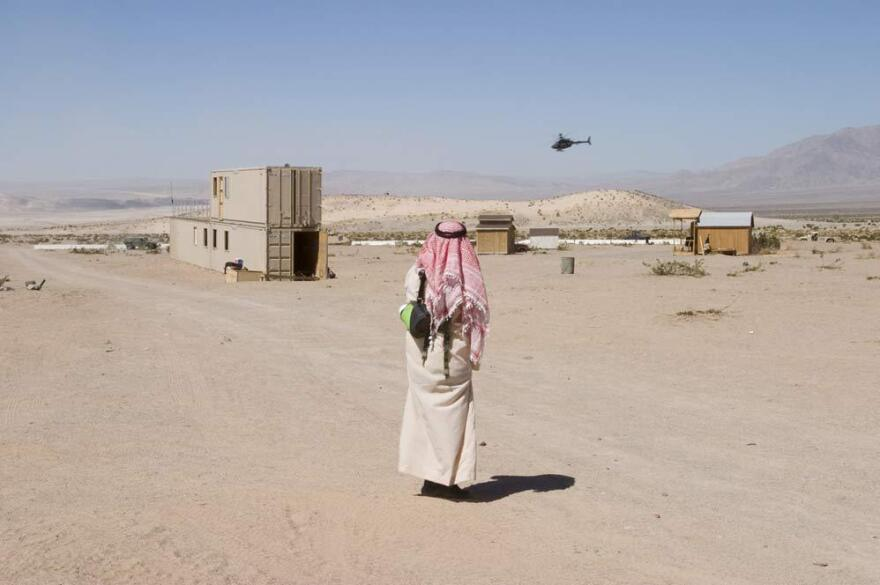 <em>Observing Helicopter, Fort Irwin, California,</em> from the series, <em>Theater of War: The Pretend Villages of Iraq and Afghanistan,</em> 2006