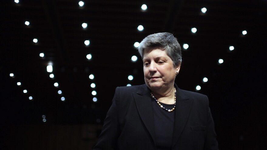 Former secretary of Homeland Security Janet Napolitano prepares to testify before the Senate Judiciary Committee in 2013. She has written a new book called <em>How Safe Are We?</em>