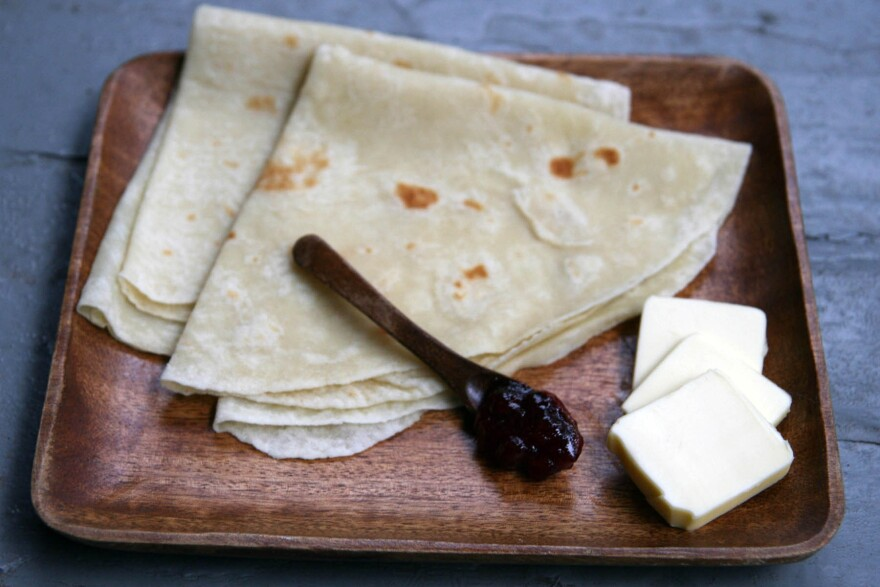 """Megan Walhood loves the unique toasty potato flavor of lefse. """"There's something so comforting about soft, starchy things,"""" she says."""