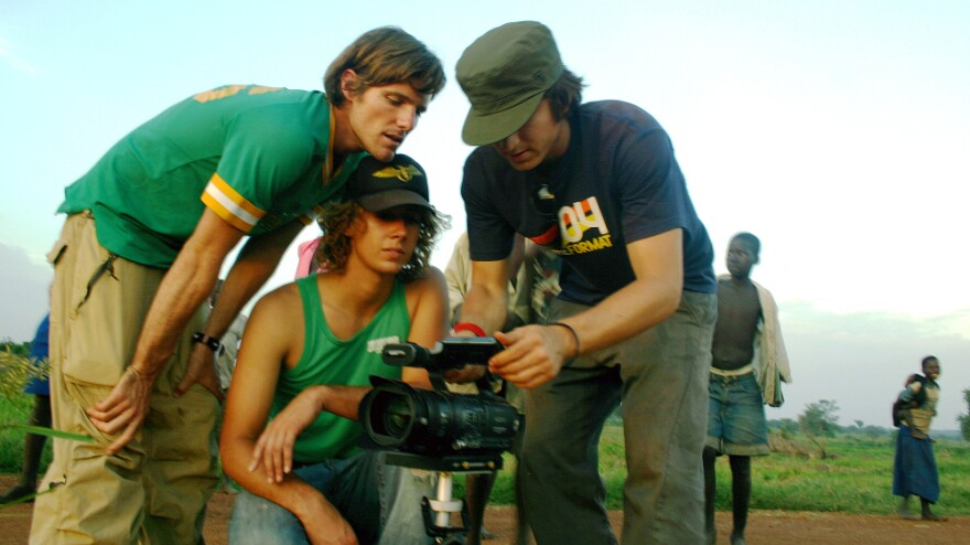 Invisible Children, the group that released the Joseph Kony video that went viral in 2012, has been making films about Kony for years, and targeting young people as the main audience. Here, the group's co-founders, Jason Russell (from left), Bobby Bailey and Laren Poole, record footage in Africa in 2007.