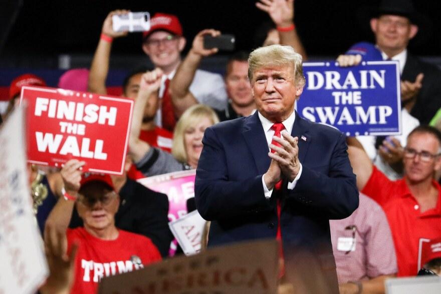 President Trump at rally