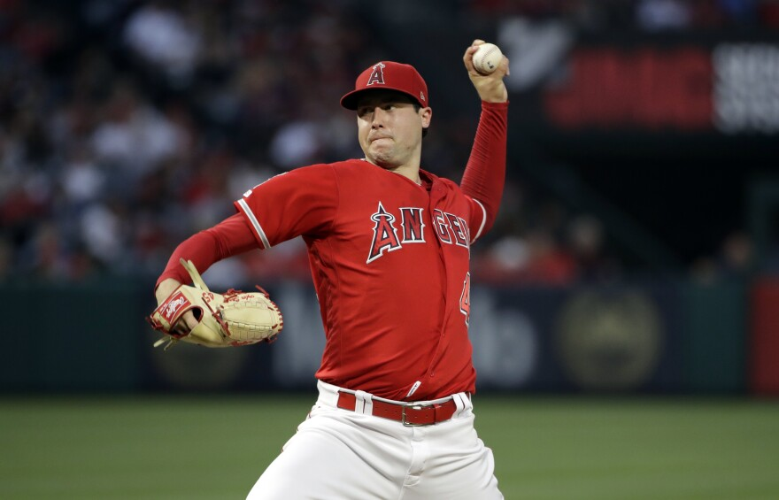 Los Angeles Angels pitcher Tyler Skaggs