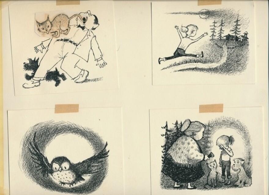 Some of Maurice Sendak's illustrations for the original series.