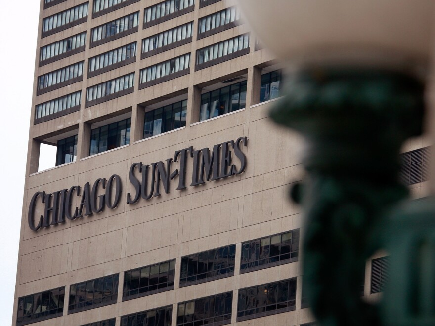 The <em>Chicago Sun Times</em>' offices.