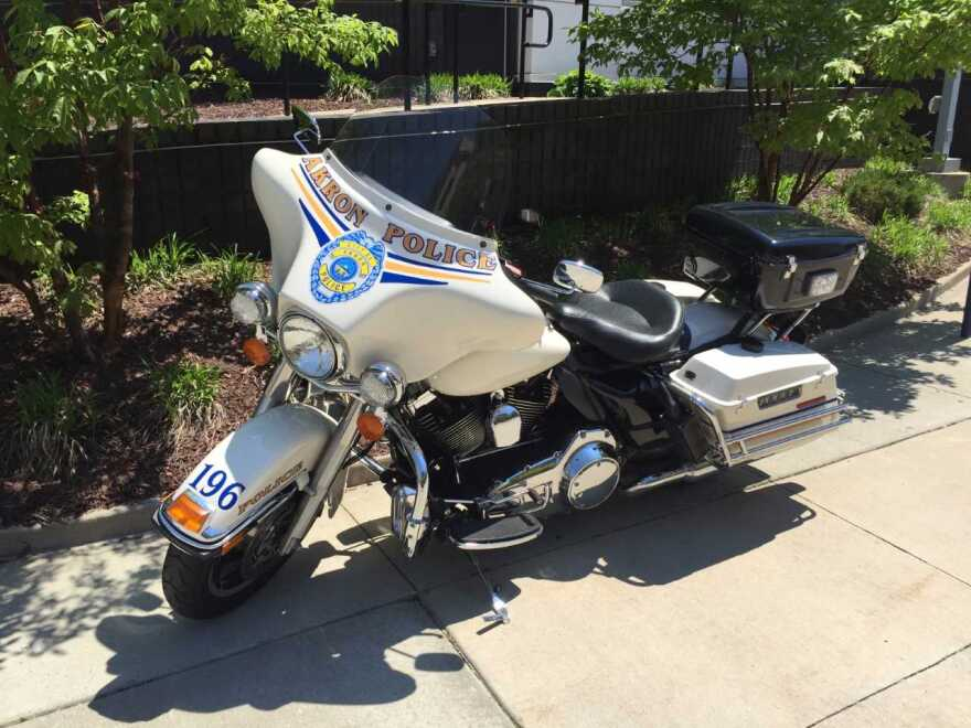 Akron PD motorcycle
