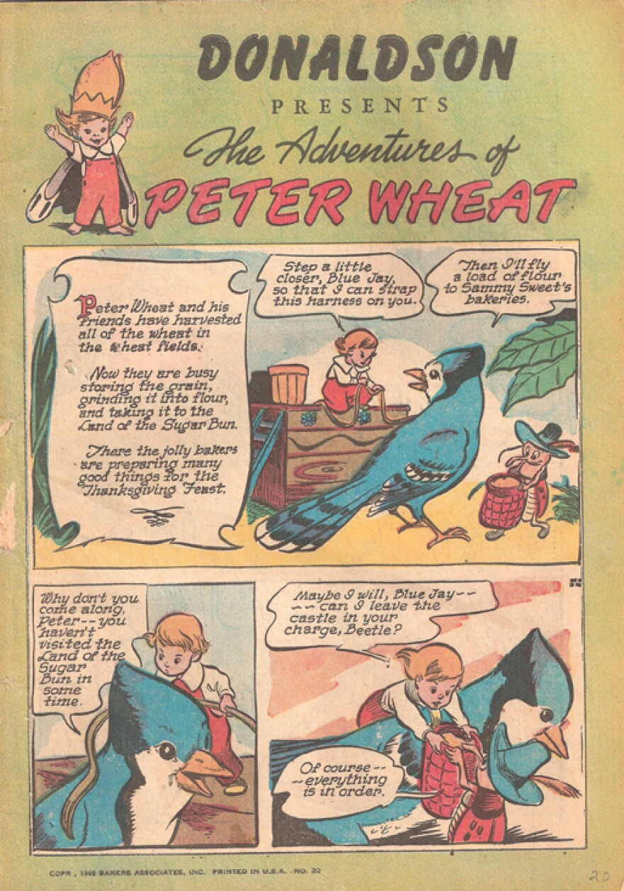 Walt Kelly, who would later create the critically acclaimed comic Pogo, came up with <em>The Adventures of Peter Wheat</em>.