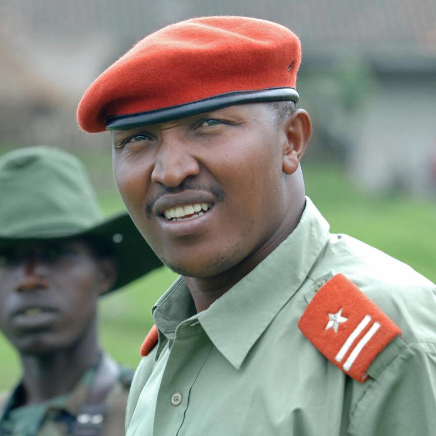 Bosco Ntaganda, seen during his days as a rebel militia leader in 2009, at a mountain base in Kabati in the Democratic Republic of Congo.