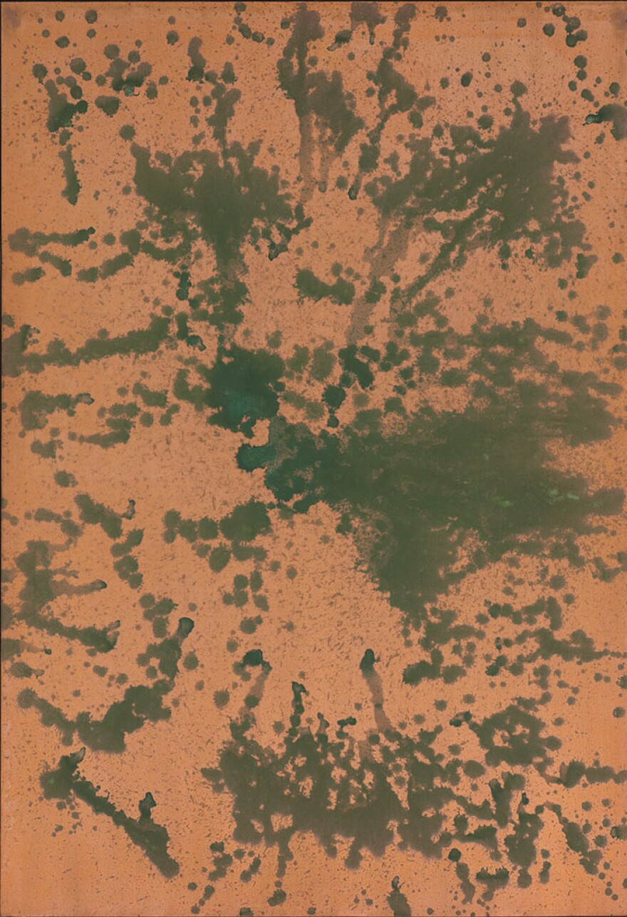 One of Andy Warhol's Oxidation Paintings, sold earlier this week by the Baltimore Museum of Art.