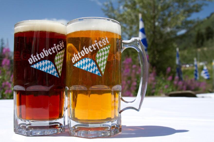 Photo of Snowbird Oktoberfest mugs.