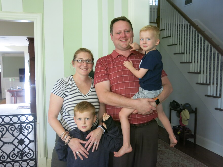 For now, Ashley and Brett Knapp are finding that behavioral therapy, along with medication, works best in reducing the symptoms of ADHD in their older son, Brody (standing). That's Brody's little brother, Owen, on the right.