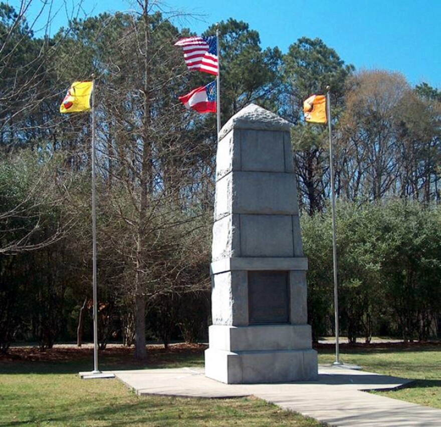 Picture of the Trail of Tears Memorial.