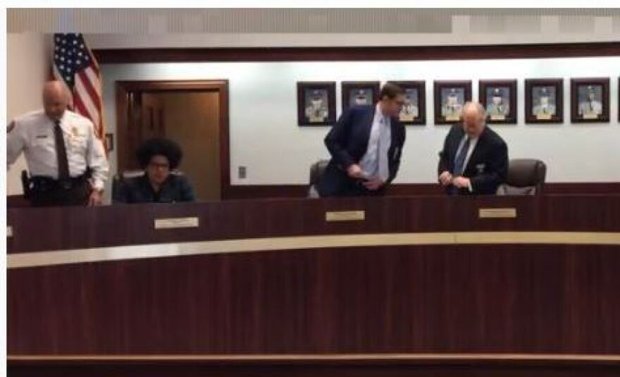 Screenshot of Board of Police Commissioners livestream March 19, 2020.