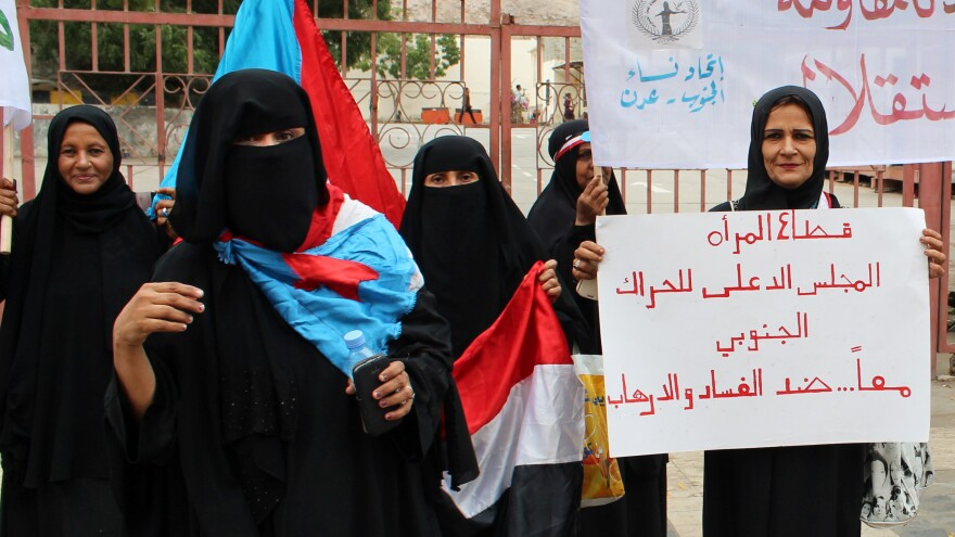Women in Yemen — where nearly 4 in 5 people using public services pay bribes — recently protested against corruption and terrorism.