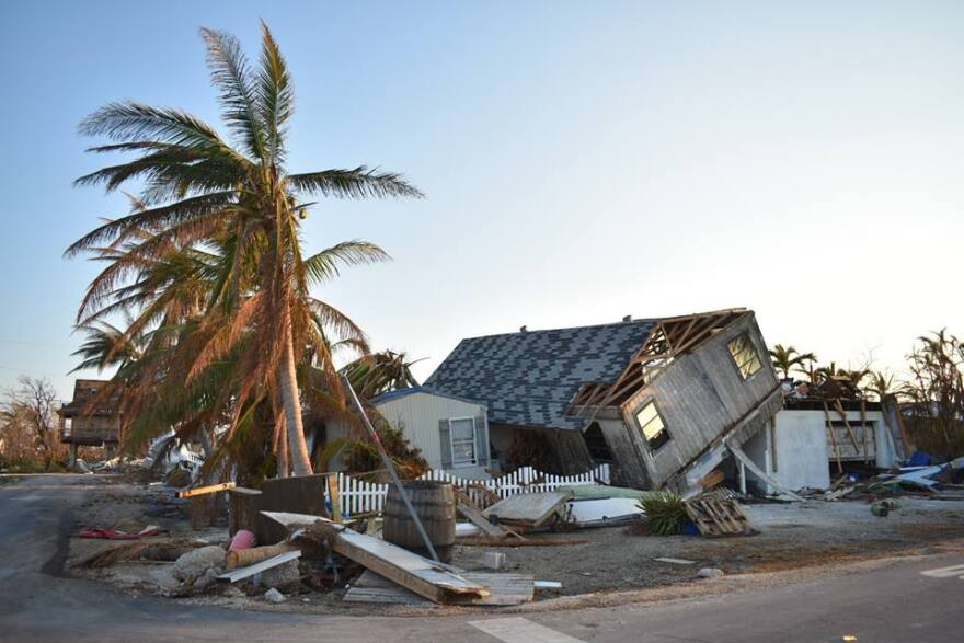This house has been destroyed as a result of Hurricane Irma (2017).